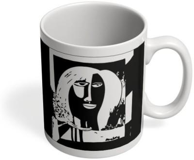 PosterGuy A Freaky Love Affair Painting Art, Sketch,Painitng, Portrait, Illustration Ceramic Mug