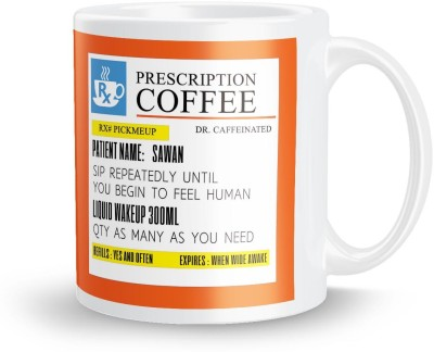 posterchacha Personalized Prescription Tea And Coffee  For Patient Name Sawan For Gift And Self Use Ceramic Mug