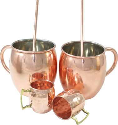 Dakshcraft Premium Quality Outside Copper,Inside Nickle Lining Plain Mules Copper Mug