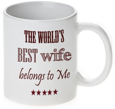 Mugwala World's Best Husband & Wife Ceramic Mug