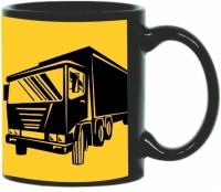 Printland Printland Truck Black Coffee 350 - ml Ceramic Mug(350 ml) best price on Flipkart @ Rs. 349