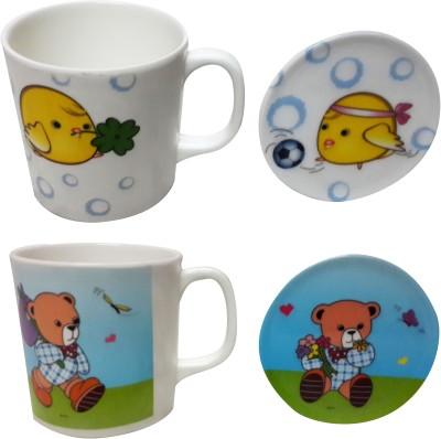 Zido Teddy and Dolphin Melamine Mug