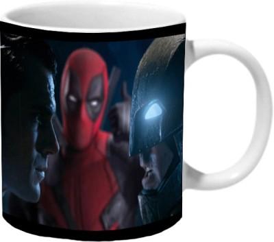 Mooch Wale Batman Vs Superman And Deadpool Ceramic Mug