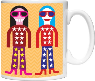 Pinqart Vector Design Party Time Ceramic Mug