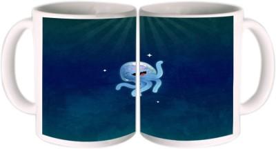 Shopkeeda Cute Jellyfish Ceramic Mug