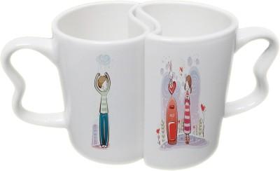 Ucard Love Post Couple Set Bone China, Ceramic, Porcelain Mug