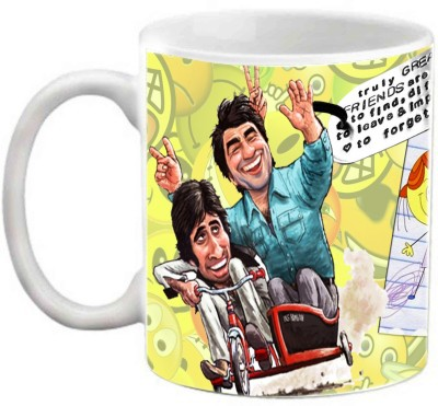 EFW FRIENDSHIP - TRULY GREAT FRIENDS ARE HARD TO FIND AND DIFFICULT TO LEAVE Ceramic Mug