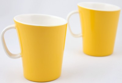 Hi Luxe Dbl Clr Melamine 42249 Dual - Yellow Melamine Mug