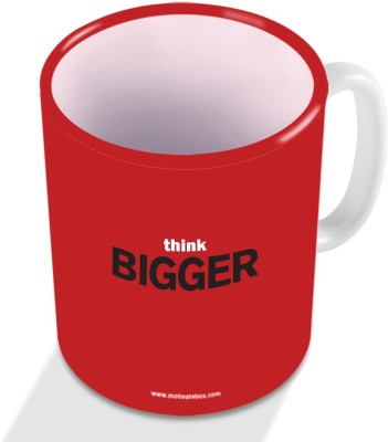 Motivate Box think Bigger  Ceramic Mug
