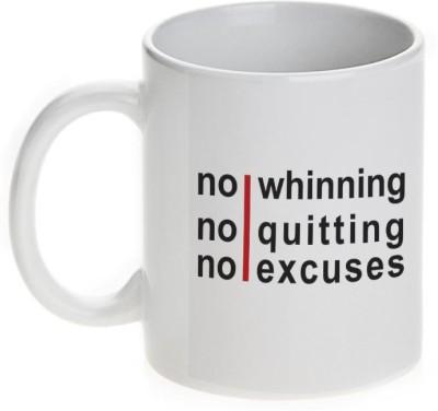 Mugwala No Winning,Quitting,Excuses Ceramic Mug