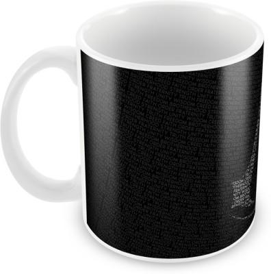 AKUP black coloured textured Ceramic Mug