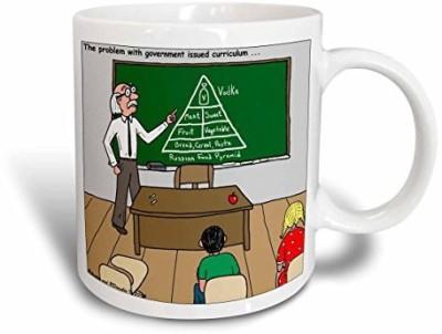 3dRose Russian Food Pyramid Ceramic , 11 oz, White Ceramic Mug
