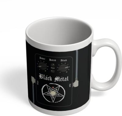 PosterGuy Black Metal Guitar Effects Pedals Digital Art Ceramic Mug