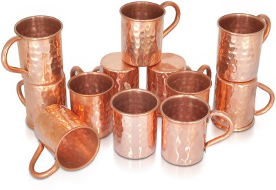 Dungri India Craft Set of 12, 100 % Pure copper hammered 70 ML / 2.3 oz SHOT Moscow Mule Vodka  for Cocktail Copper Mug
