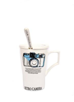 Enfin Homes Retro Camera Porcelain Mug