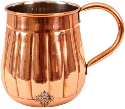 IndianArtVilla Copper Nickel Lining Design Beer Cup Moscow Mule | Volume 630 ML Copper Mug