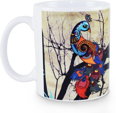 Kolorobia Divine Beauty Peacock Potrait Ceramic Mug
