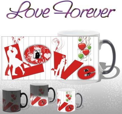 Snapgalaxy L O V E Forever Magic Ceramic Mug