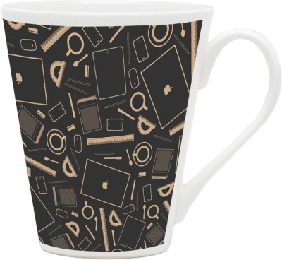 HomeSoGood Engineers Equipments Pattern Ceramic Mug