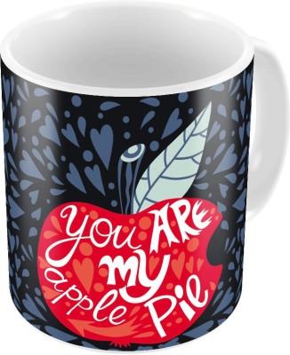 Indiangiftemporium Designer Romantic Printed Coffee s Pair 787 Ceramic Mug