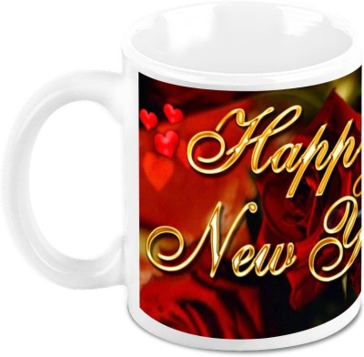 HomeSoGood Gifting Roses On New Year Ceramic Mug