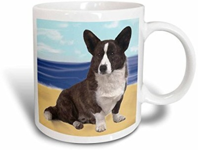 3dRose Cardigan Welsh Corgi, 15-Ounce Ceramic Mug(60 ml)