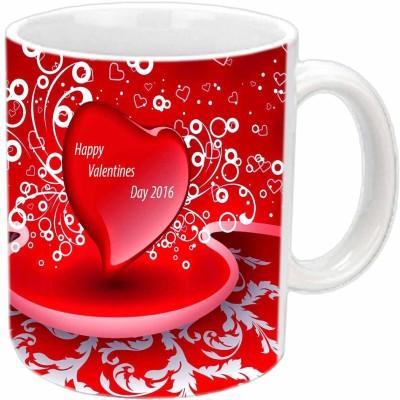 Jiya Creation 2016 Hearts Valentine White  Ceramic Mug