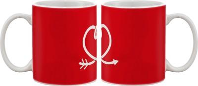 Artifa Heart Arrow Porcelain, Ceramic Mug