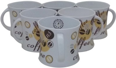 Classique Coffee/ Tea Cups Set Of 6 Pieces (CLMG2405) Bone China Mug
