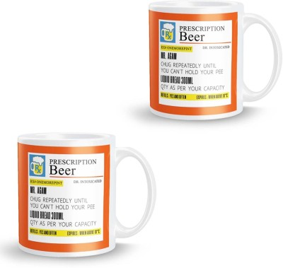 posterchacha Beer  For Patient Name Agam Pack of 2 Ceramic Mug