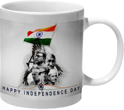 Mooch Wale Super Heros Happy Independence Day Ceramic Mug