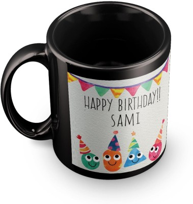 posterchacha Sami Personalised Custom Name Happy Birthday Gift Tea And Coffee  For Gift Use Ceramic Mug