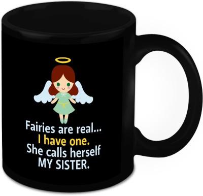 HomeSoGood My Sister Is My Angel Ceramic Mug