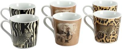 Devnow Stoneware Animal Printed Porcelain Mug