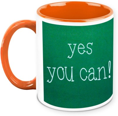 HomeSoGood Yes You Can Office Quote Ceramic Mug