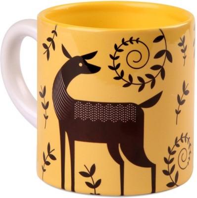Studio Pandora Yellow Deer Tea Ceramic Mug
