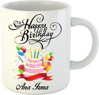 Huppme Happy Birthday Ana White  (350 ml) Ceramic Mug