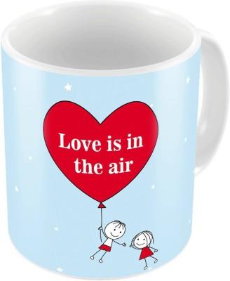 Indiangiftemporium Designer Romantic Printed Coffee s Pair 714 Ceramic Mug