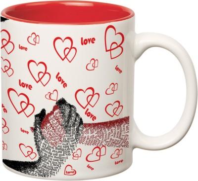 Mugwala Hold my Hand forever Red Love mug Ceramic Mug available at Flipkart for Rs.199