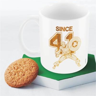 Marvel Captain America since 41  Officially Licensed Ceramic Mug