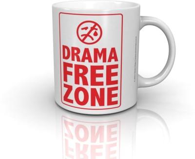 Seven Rays Drama Free Zone Ceramic Mug