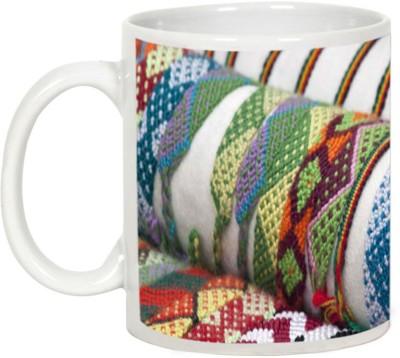 AllUPrints Friendship Day Gifts - Colorful Friendship Band Ceramic Mug