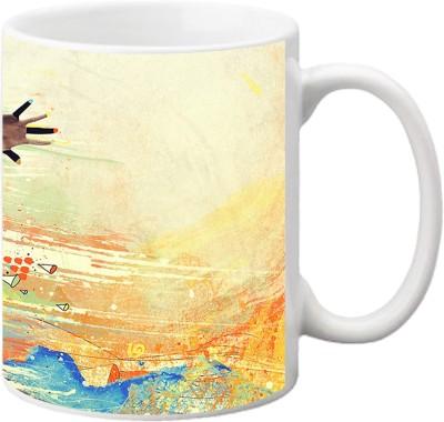 ezyPRNT Marathon Abstract Ceramic Mug