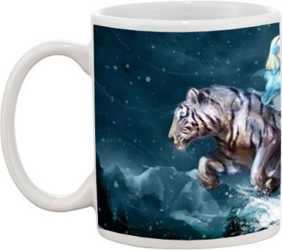 Goonlineshop Tiger girl Ceramic Mug