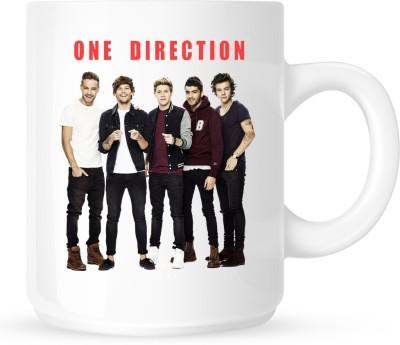 Huppme One Direction White  Ceramic Mug