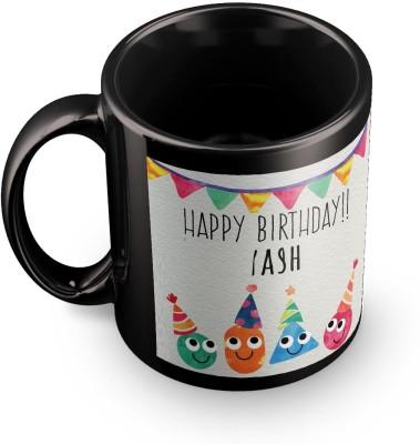 posterchacha Yash Personalised Custom Name Happy Birthday Gift Tea And Coffee  For Gift Use Ceramic Mug