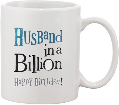 Elli Gifts Happy Birthday Husband H2 Ceramic Mug