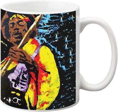 ezyPRNT Jimi Hendrix Pop Art Ceramic Mug