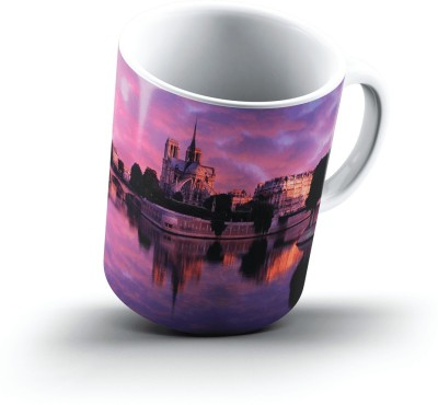 Ucard Notre Dame At Sunrise Paris France2555 Bone China, Ceramic, Porcelain Mug
