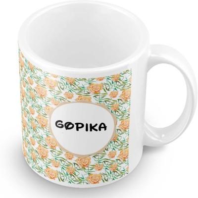posterchacha Gopika Floral Design Name  Ceramic Mug